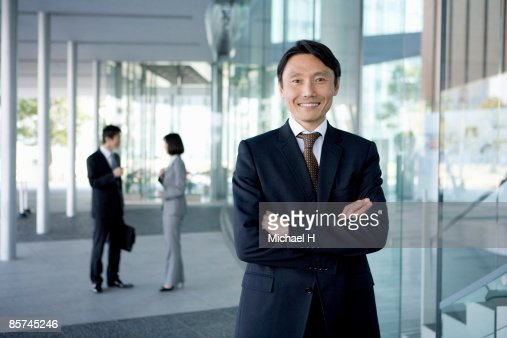 Businessman who overflowed in confidence