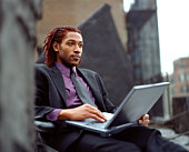 Businessman with a laptop