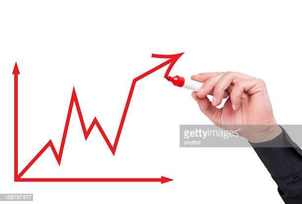 Geschäftsmann mit ein Business-Diagramm