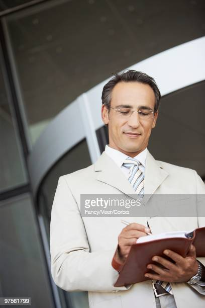 Businessman with appointment book