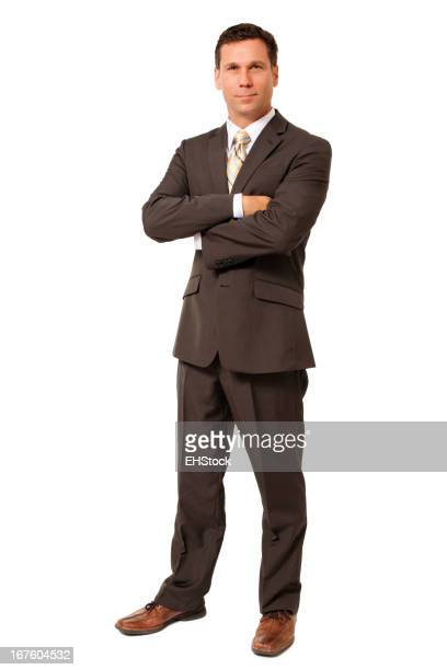 Businessman with Arms Crossed Isolated on White Background