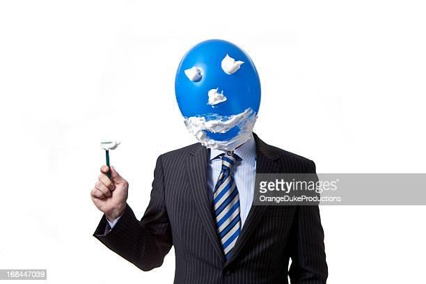 Geschäftsmann mit balloonhead