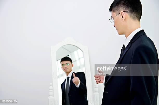 Hombre de negocios con trastorno bipolar