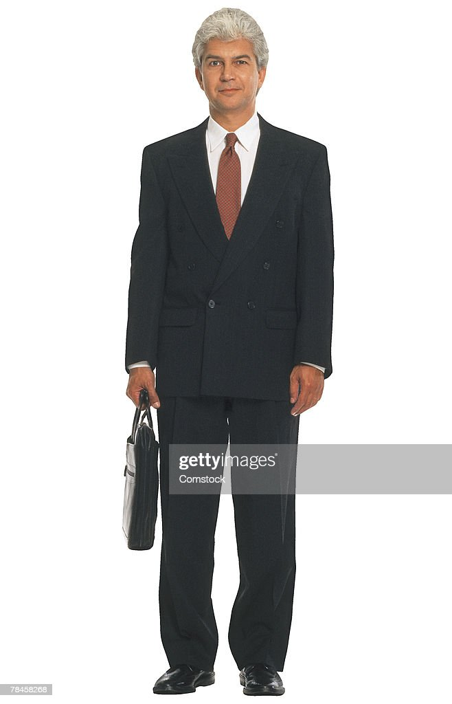 Businessman with briefcase : Stock Photo