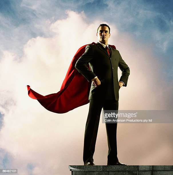 Businessman with cape