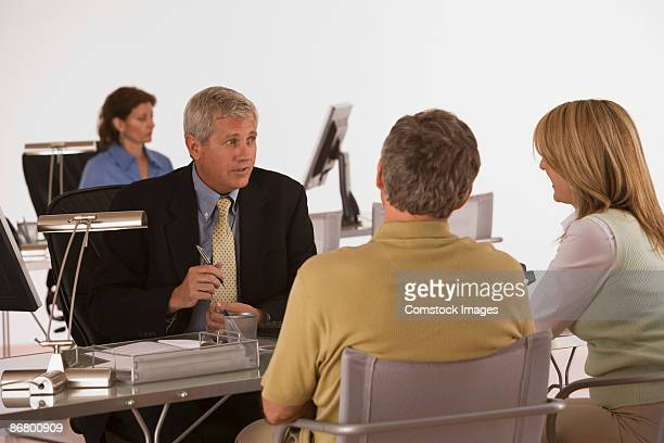 Businessman with clients