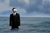Businessman with Diving Mask and Snorkel in Ocean [B]MUCH MORE IN LIGHTBOX[/b]  [url=file_closeup.php?id=5232502][img]file_thumbview_approve.php?size=1&id=5232502[/img][/url] [url=file_closeup.php?id=