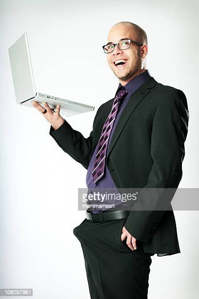 Businessman with Erection