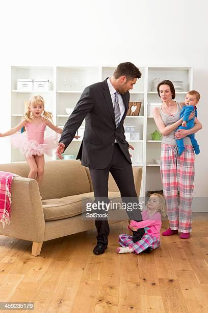 Geschäftsmann mit der Familie