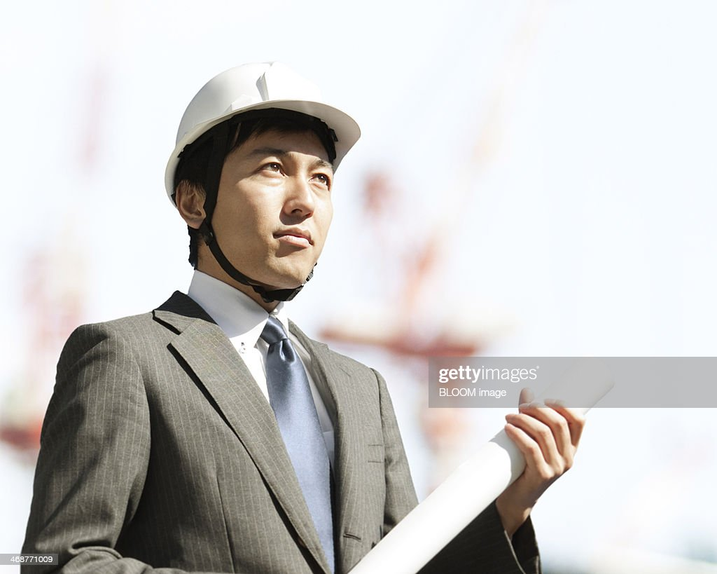 Young Japanese Businessman Wearing Suit Stock Photo | Male Models ...