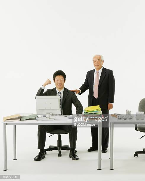Businessman With His Employee