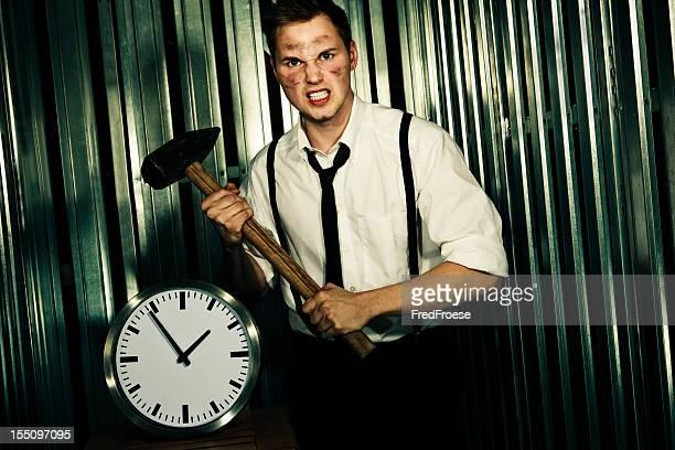 Empresário com arma e Relógio