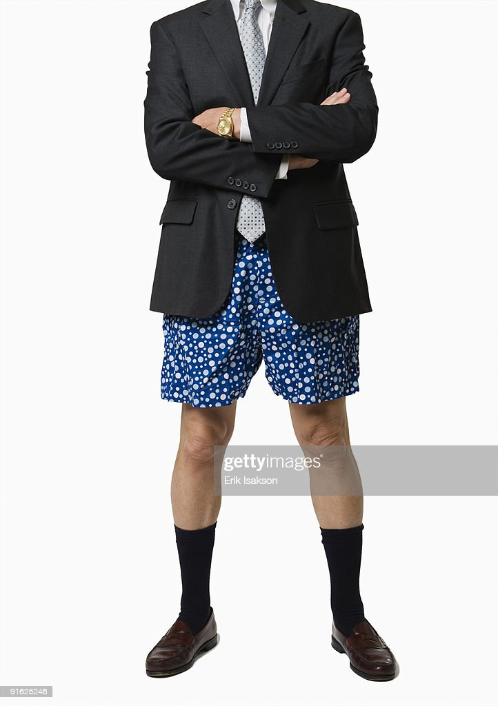A businessman without pants