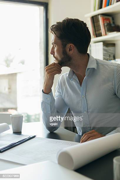 Businessman Working At His Office.