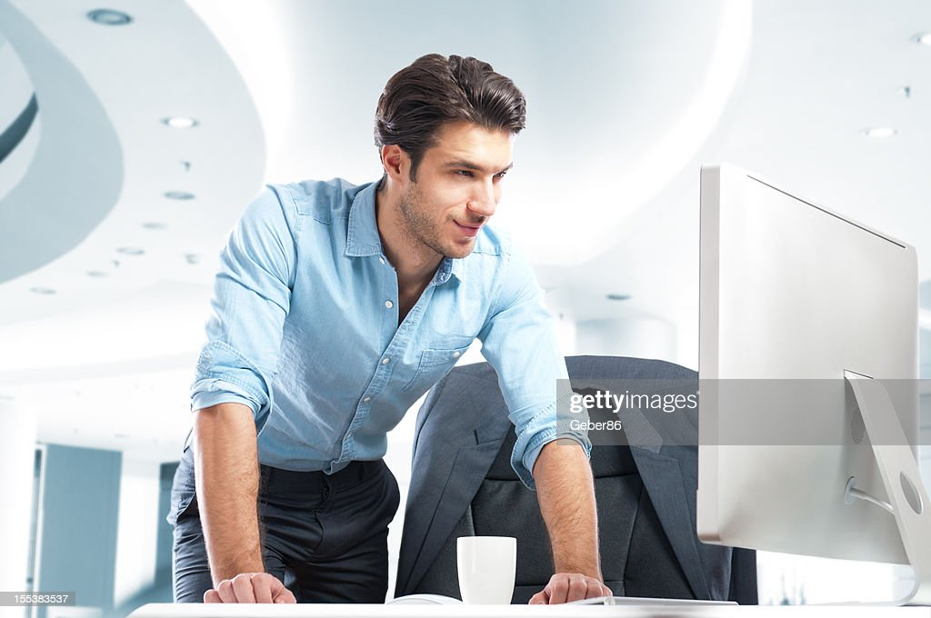 businessman working in his office : Stock Photo