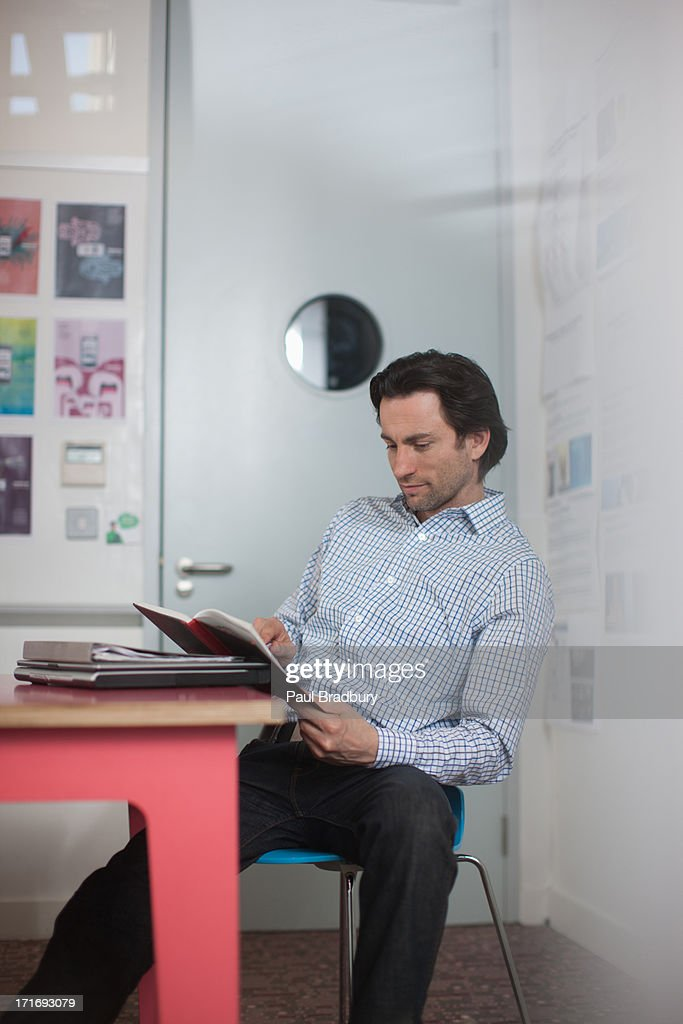 Businessman working in office : Stock Photo