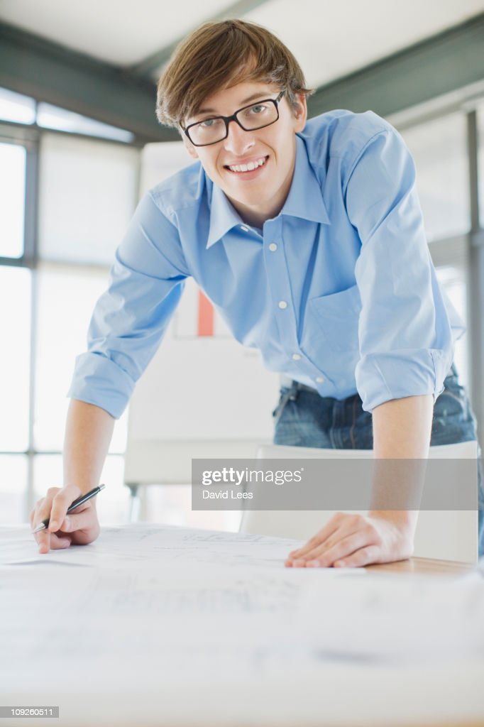 Businessman working on paperwork : Stock Photo