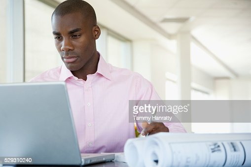 Businessman working : Stockfoto