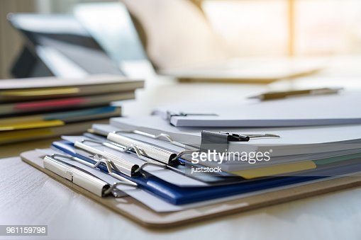 Businessman working reading documents graph financial to job succes Analyze document plans : Stock Photo