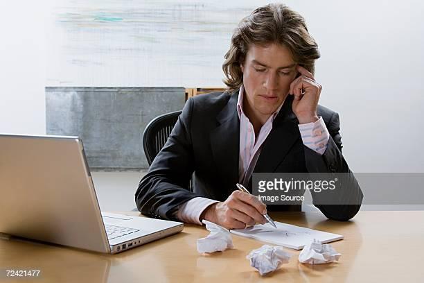 Geschäftsmann Schreiben