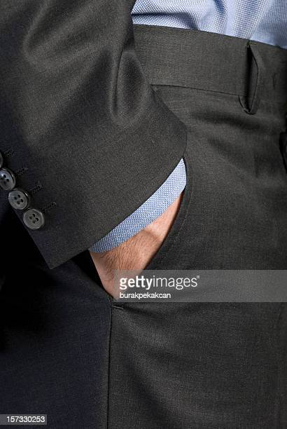 Businessman's hand in pocket