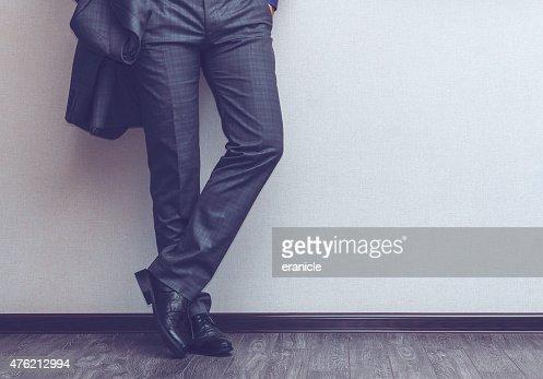 Businessman's legs : Stock Photo