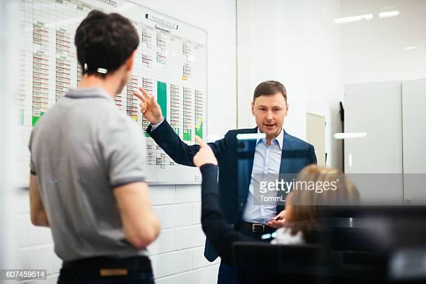 Businessmeeting in industrial office