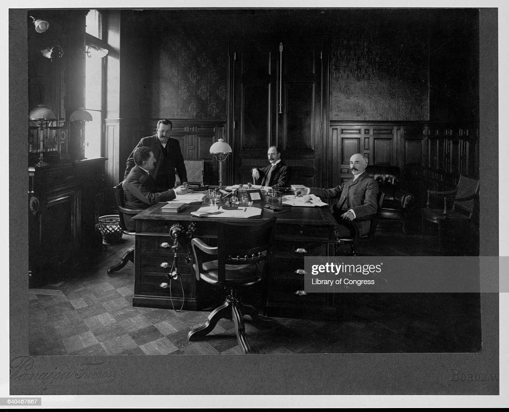 Businessmen at Marie Brizard Distillery