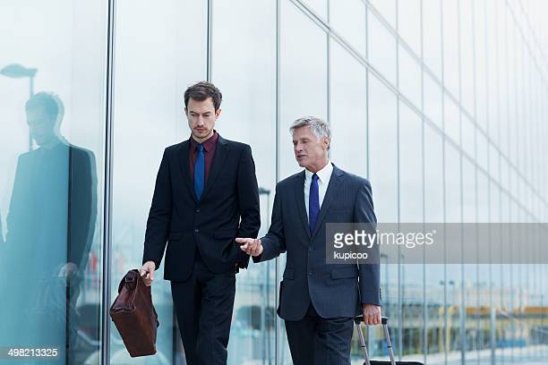 Businessmen before they board