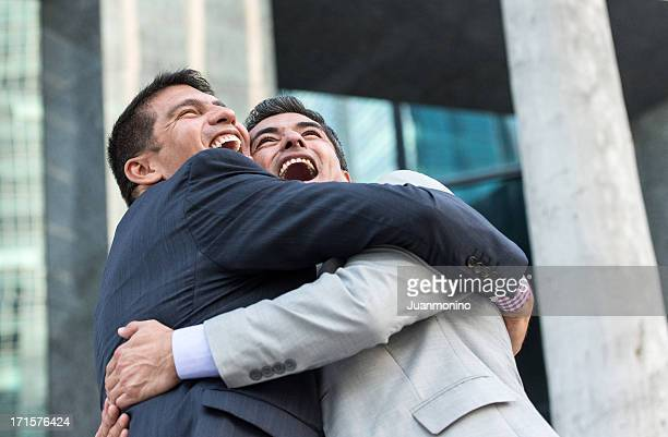 Businessmen Celebrating