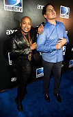 Businessmen Daymond John and Mark Cuban attend DirecTV Super Saturday Night hosted by Mark Cuban's AXS TV and Pro Football Hall of Famer Michael...