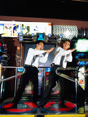 Businessmen in Arcade