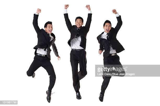Businessmen in celebration