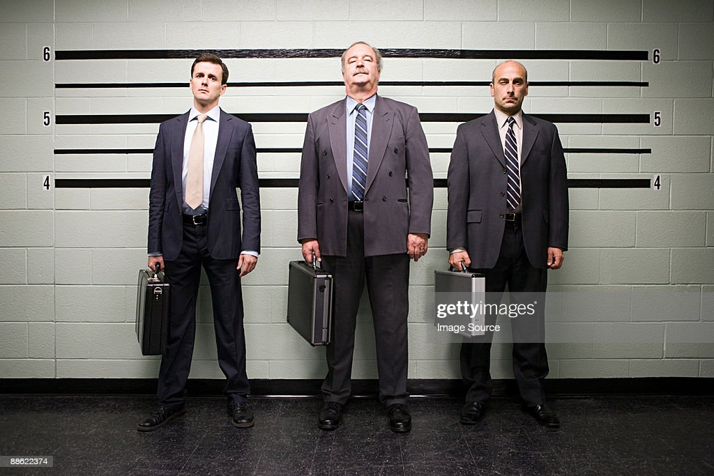 Businessmen in lineup : Stock Photo
