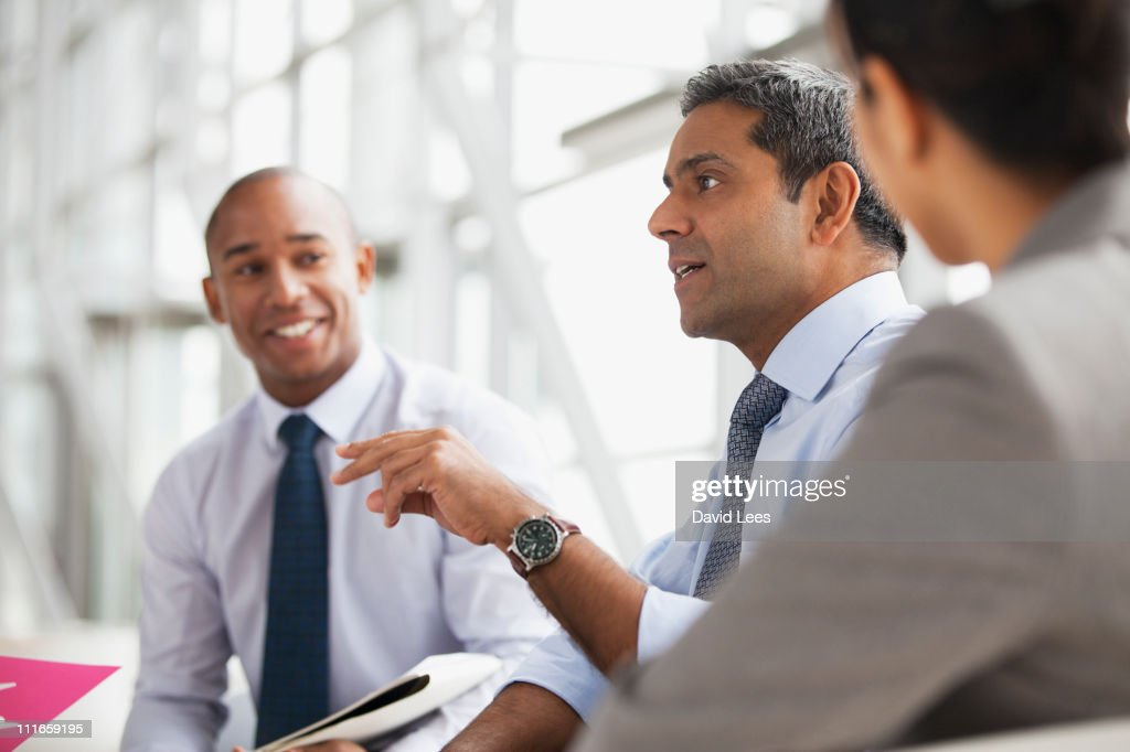 Businessmen in meeting : Stock Photo