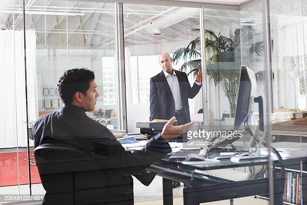 Businessmen meeting in office