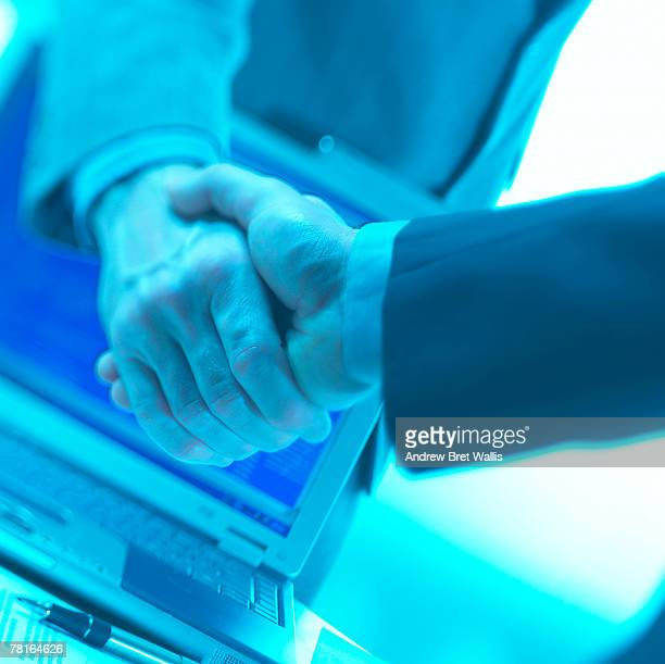 Businessmen shading hands