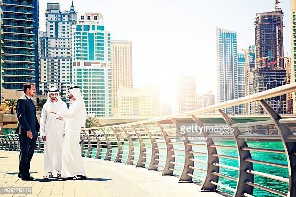 Businessmen struck a deal in Dubai