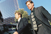 Businessmen walking outdoor