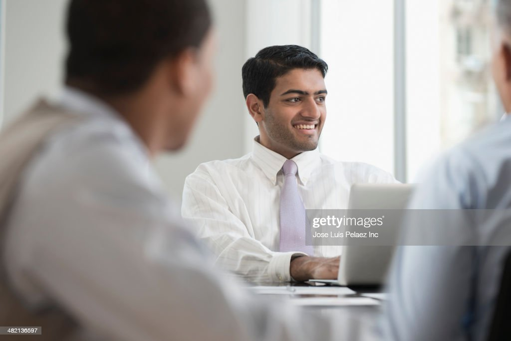 Businessmen working in office : Stock Photo