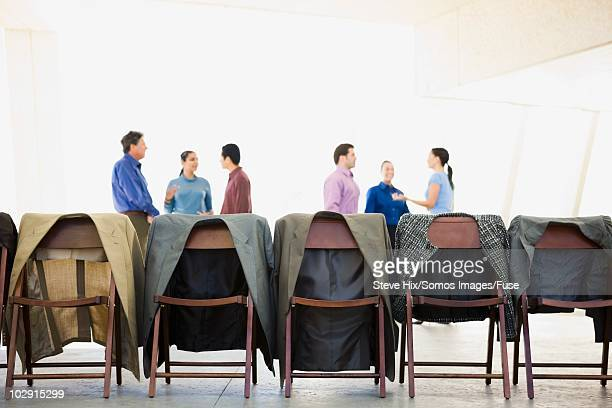 Businesspeople at a conference