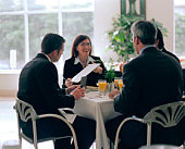 Businesspeople at breakfast