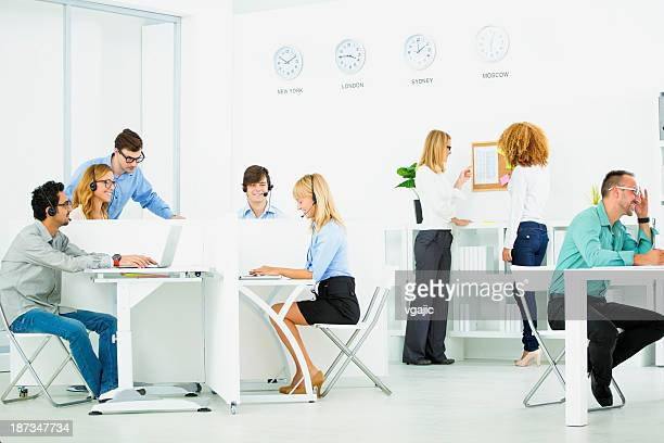 Businesspeople At Call Center.