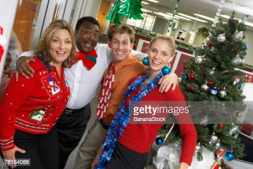 Businesspeople at Christmas party : Foto de stock