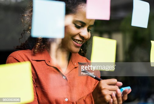 Businesspeople brainstorming with creative ideas : Foto de stock