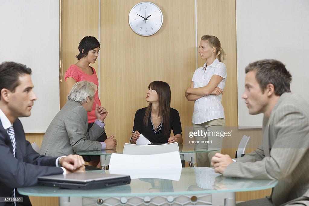 Businesspeople Communicating : Stock Photo