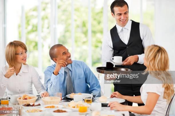 Businesspeople having a coffee break