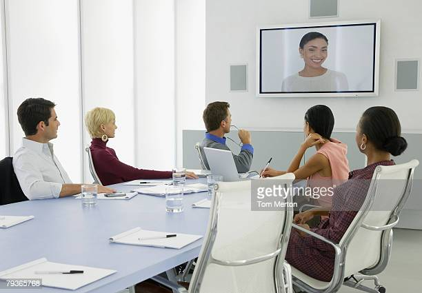 Businesspeople having a video conference