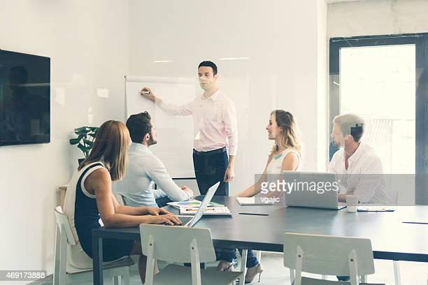 Geschäftsleute haben Treffen im Büro.