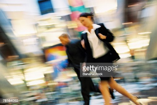 Businesspeople hurrying : Foto de stock